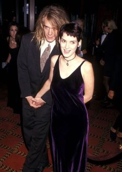 "NEW YORK CITY - SEPTEMBER 13: Musician Dave Pirner of Soul Asylum and actress Winona Ryder attend ""The Age of Innocence"" New York City Premiere on September 13, 1993 at the Ziegfeld Theater in New York City. (Photo by Ron Galella, Ltd./WireImage) *** Local Caption *** Dave Pirner;Winona Ryder"
